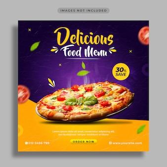 Food social media promotion and instagram post design template