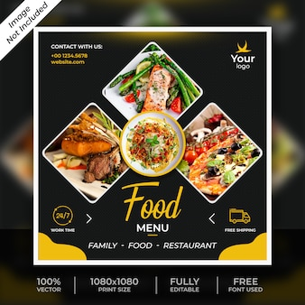 Food social post template