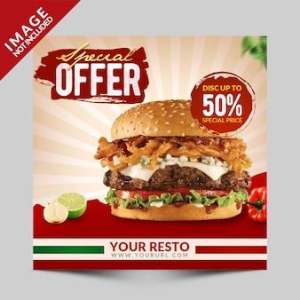 Food special offer social media promotion