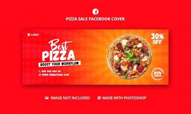 Food template for facebook cover template