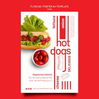 Food template poster and flyer design template