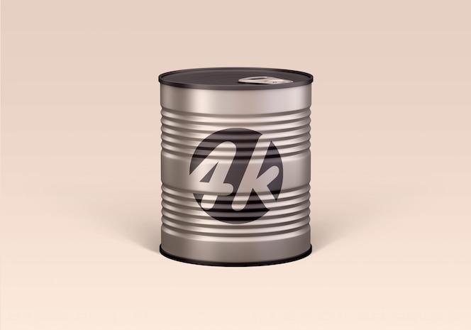 食品ブリキ缶のモックアップ