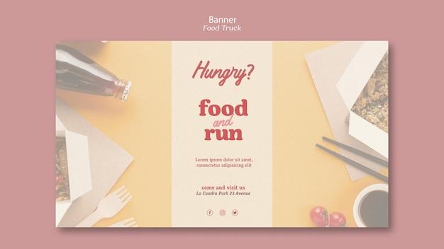 Food truck template banner