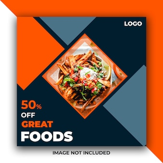 Food web social media post banner