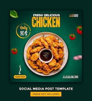 Foods 소셜 미디어 및 instagram 게시물 desgin 템플릿