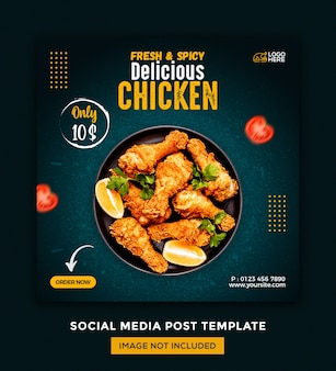 Foods social media and instagram post desgin template