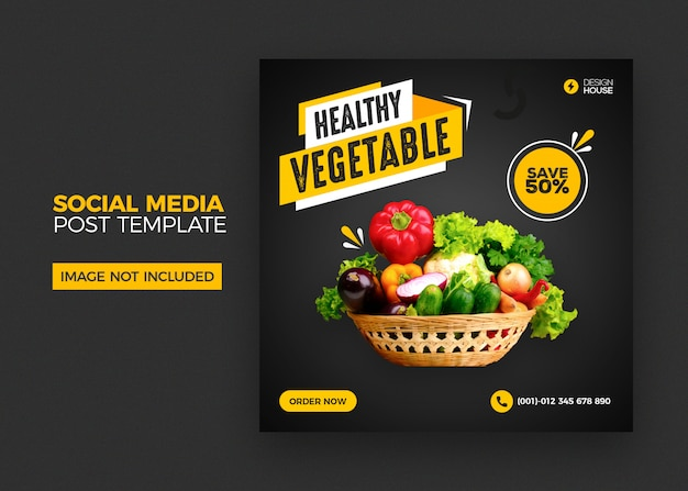 Foods social media instagram post template