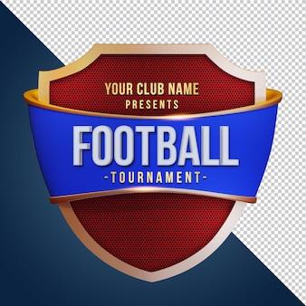 쉴드 3d 렌더링으로 풋볼 토너먼트