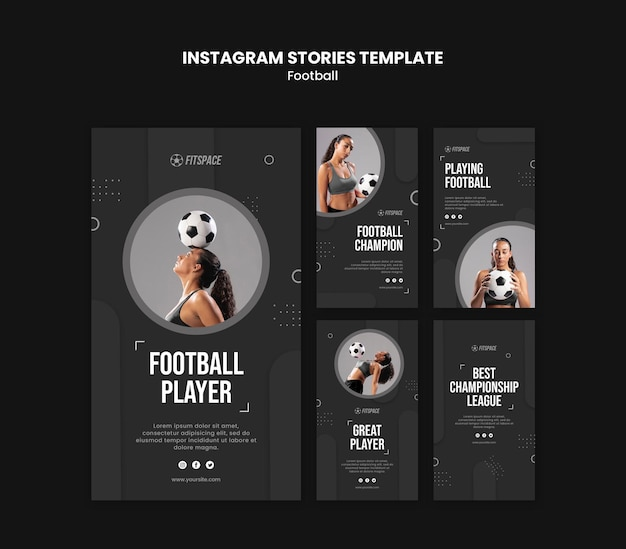 Football ad instagram stories template