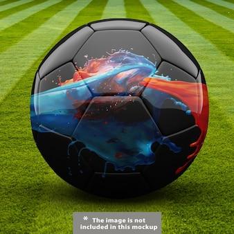 サッカーボールがデザインをモックアップ