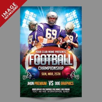 Football championship flyer template