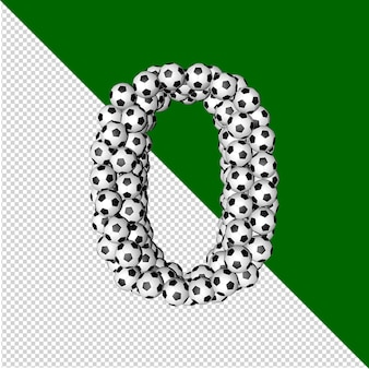 Football collection symbol. 3d number 0