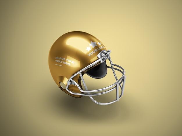 分離されたフットボール用ヘルメットのモックアップ