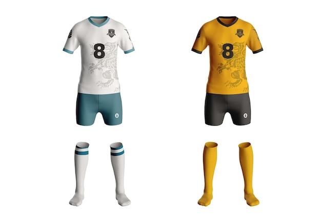 Football kit tshirt mockup