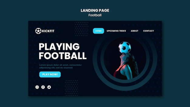 サッカーランディングページ
