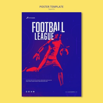 Football league poster template