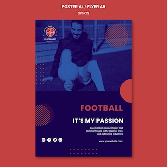 Football player poster template