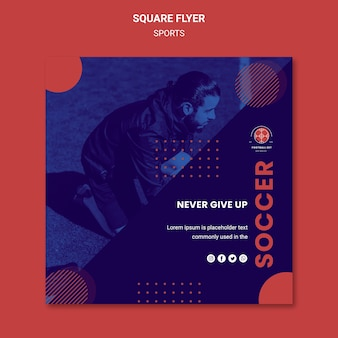 Football player square flyer