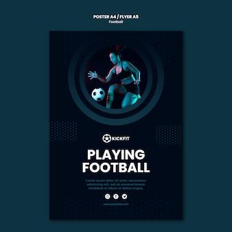 サッカーポスターテンプレート