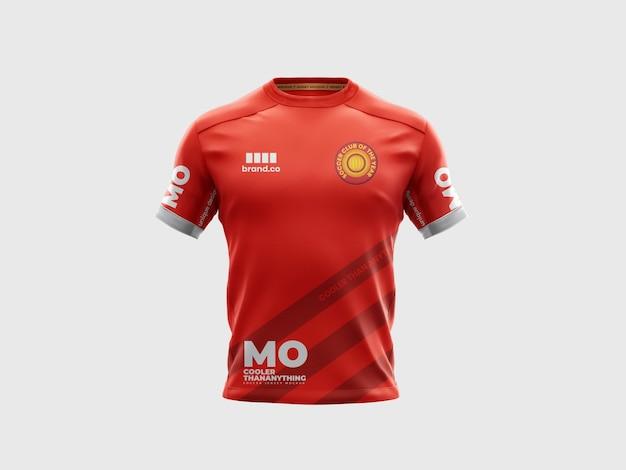 サッカーサッカージャージーシャツモックアップテンパルテ