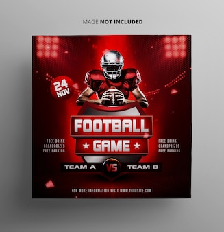 Football sport event flyer template