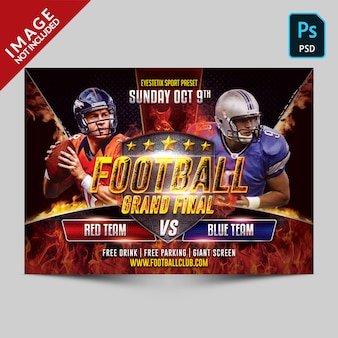 Football sport flyer template