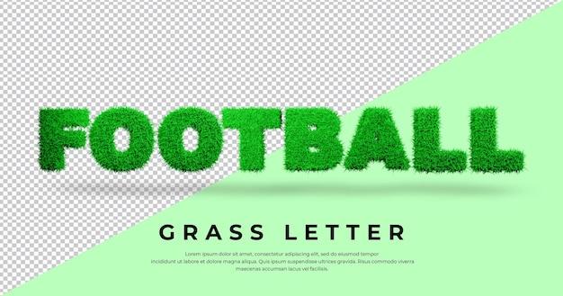 블렌더 렌더링에서 축구 텍스트 효과 3d 편지