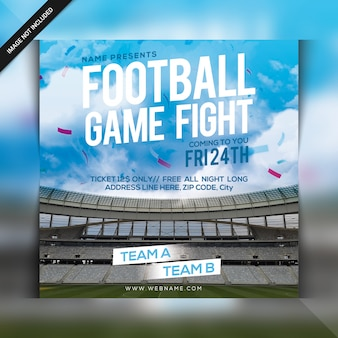 Football tournament fight flyer