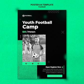 Modello di poster verticale di calcio