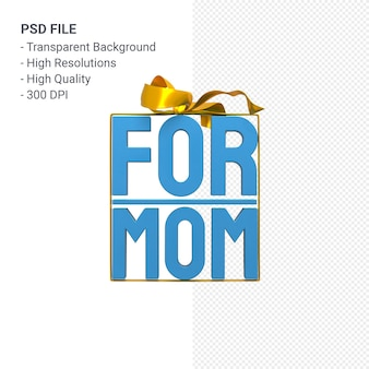 활과 리본 3d 렌더링 격리와 엄마를 위해