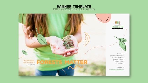 Forest day banner template