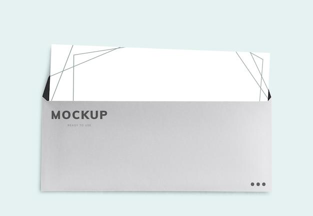 Официальный макет письма и конверта