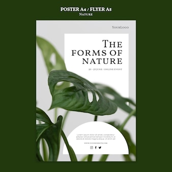 Forms of nature flyer template