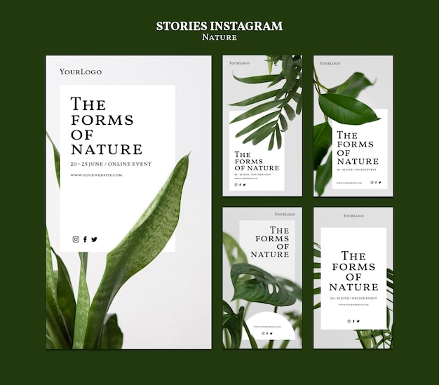Forms of nature instagram stories