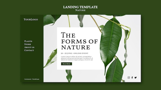 Forms of nature landing page