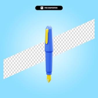 Перьевая ручка 3d визуализации изолированных иллюстрация