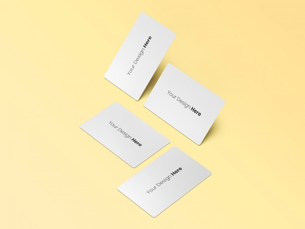 Four business cards minimal