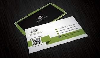 Four business cards template