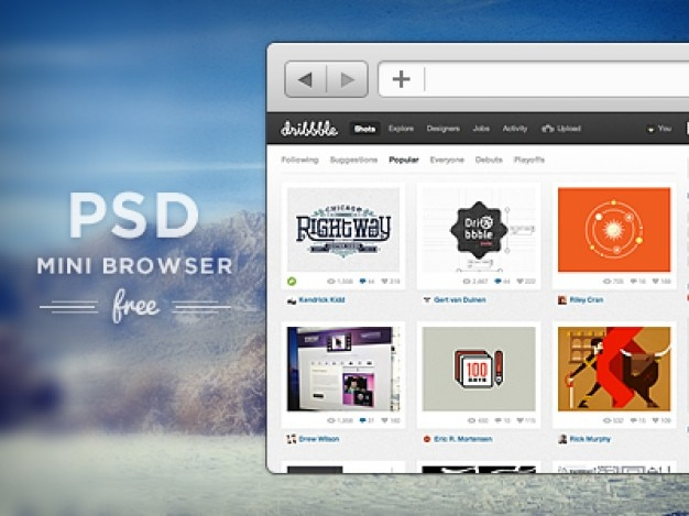 Fr psd mini del browser