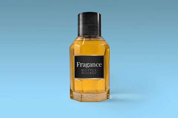 Fragance bottle mockup