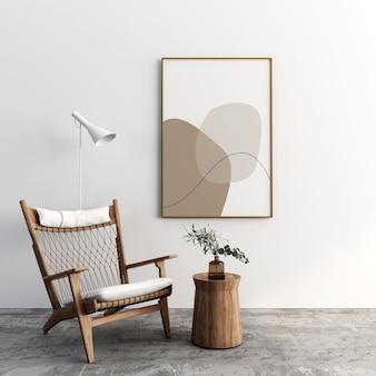 Дизайн макета рамы и кресла в 3d-рендеринге