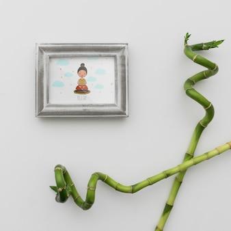 프레임과 대나무 지팡이