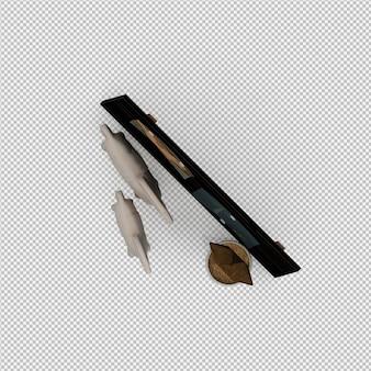 프레임 보드 및 시간 및 소규모 플랜트 3drender