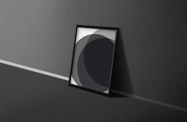 Frame by a black wall