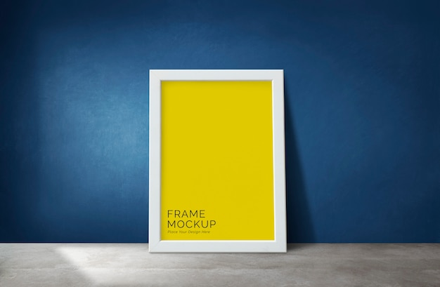 Frame by a blue wall