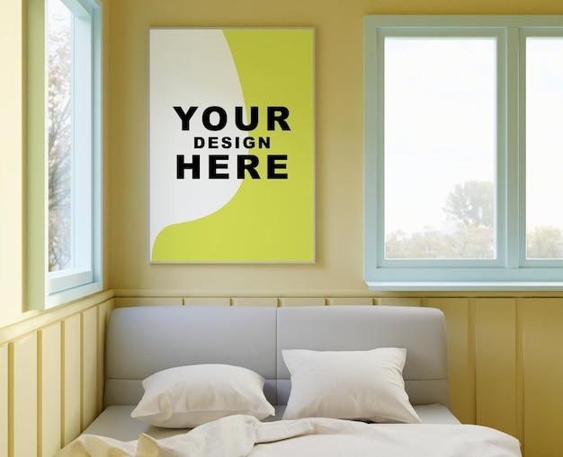 Frame mockup in the bedroom