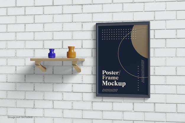 Frame mockup designs in 3d rendeirng