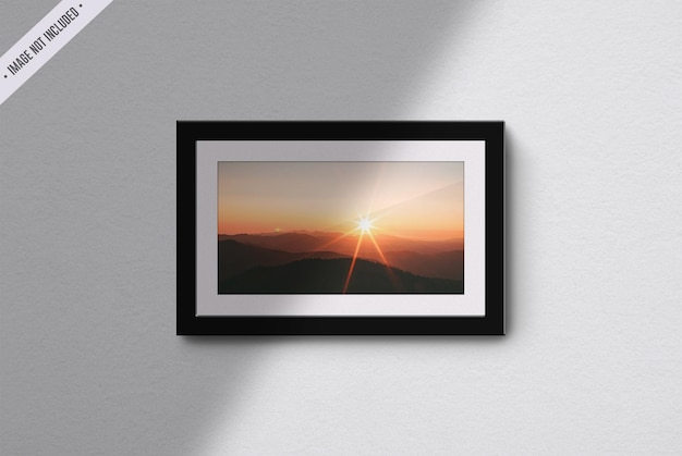 Frame mockup isolated in living room interior