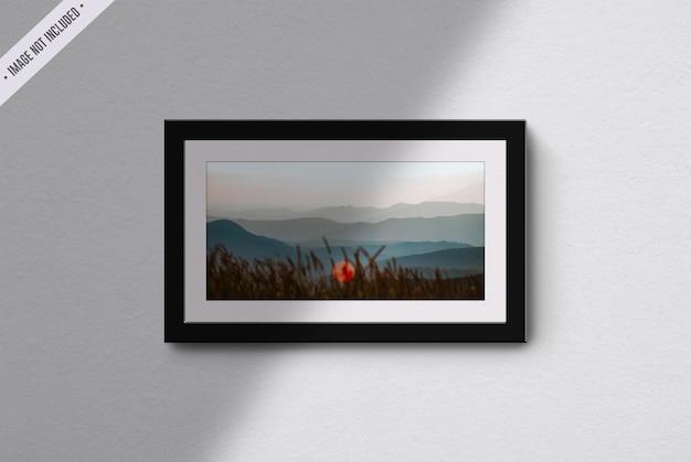 Frame mockup in living room interior