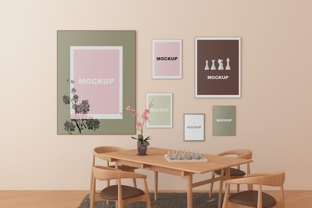 Frame mockup in living room